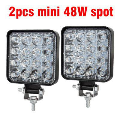 Mini 16LED 48W LED Work Light Bar Square Spotlight Offroad LED Light Bar For Truck Offroad
