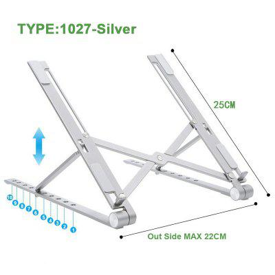 X Style Adjustable Foldable Aluminum Laptop Stand Desktop Notebook Holder Desk Laptop Stand