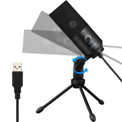 Metal USB Condenser Recording Microphone For Laptop MAC