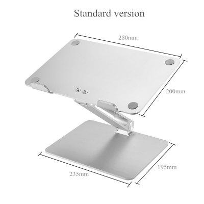 Notebook Stand Adjustable Angle Aluminum Alloy Free Lift Laptop Heighten Holder for Macbook Dell