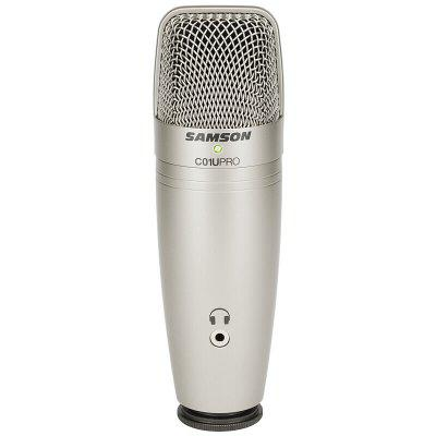 USB Studio Condenser Microphone with Real-time Monitoring Large Diaphragm Condenser Mic