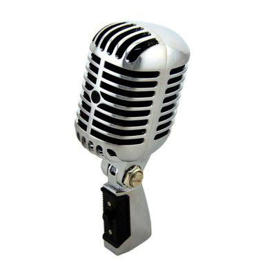 Professional Wired Classic Microphone Best Dynamic Moving Coil Mike Deluxe Metal Vocal Ktv Mic