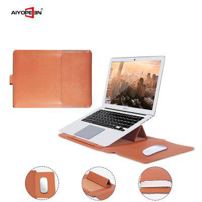 PU Leather Laptop Sleeve Case with Stand Holder Bag for Macbook Air