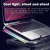 Gaming Laptop Cooler Six Fan Led Screen Two USB Port 2600RPM Laptop Cooling Pad Notebook Stand