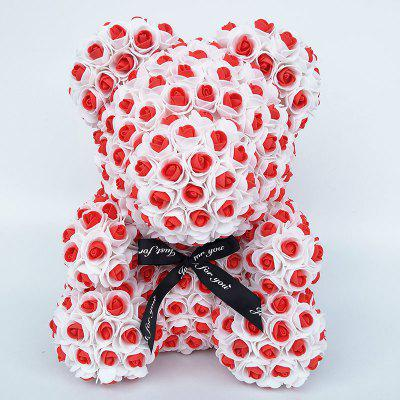 35 cm Teddy Bear Artificial Foam Rose Wedding Valentines Day Birthday Gift Wedding Gift Flower