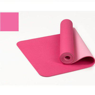 6mm Thick Double Color Nonslip TPE Yoga Mat Exercise Sport Mat for Fitness Gym Home Tasteless Pad