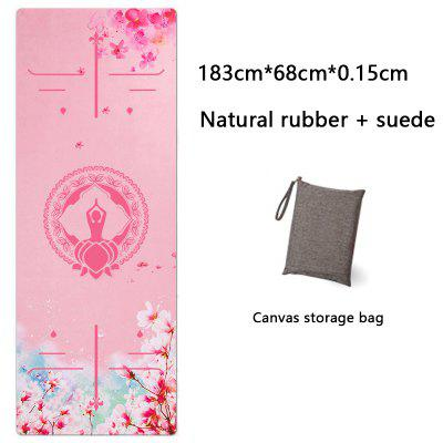 Yoga Mat Printing Ultra-thin Folding Non-slip Cloth Towel Sweat-absorbent Yoga Portable Travel Pad