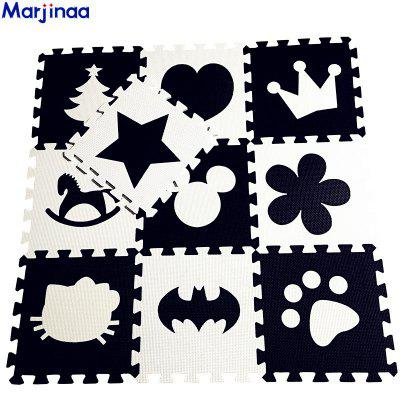 Baby Children Play Floor Mat Environme Numbers Mickey Foam Mat Black White Pad Floor for Baby Games