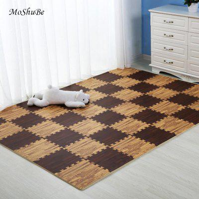 Wooden Puzzle Mat Foam Baby Play Mat Splicing Bedroom Soft Floor Interlocking Kids Crawling Carpet