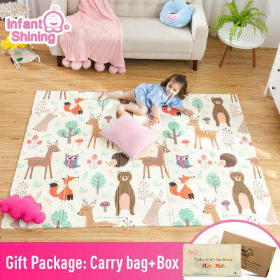 nfant Shining Baby Play Mat Xpe Puzzle Kids Mat Thickened Tapete Infantil Crawling Pad Folding Mat