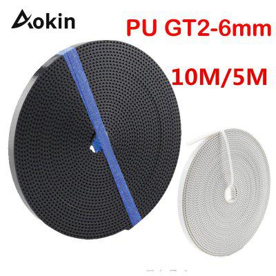 10 Meter 3D printer GT2 5M synchronous timing belt 2GT-6mm for 3d printer RepRap Mendel belt