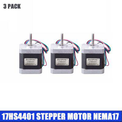 3pcs 4 lead Nema17 Stepper Motor for 3D printer 42 motor Nema 17 motor 17HS4401 motor for CNC XYZ