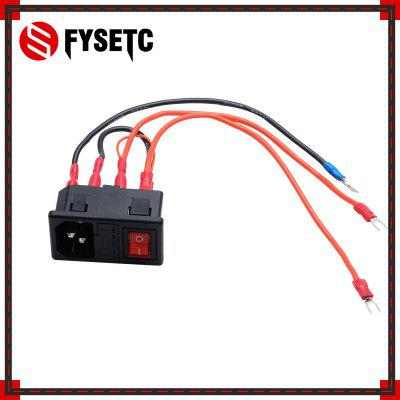 The Power Switch 220V 15A Short Circuit Protection Safety Switch Power Socket For 3D Printer Parts