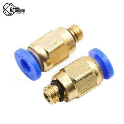 PC4-M6 Pneumatic Straight Fitting Connector for 4mm OD tubing M6 6mm Reprap 3D Printer Printers