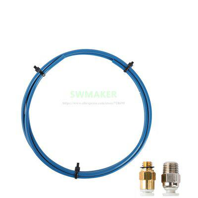 CREALITY 3D Printer Bowden PTFE Tubing 1M  1Pcs Quick Fitting and Straight Pneumatic Fitting