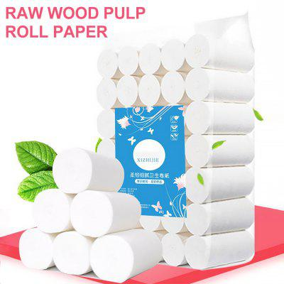 Toilet Roll Paper 4 Layers Home Bath Toilet Roll Paper Primary Wood Pulp Toilet Paper Tissue Roll