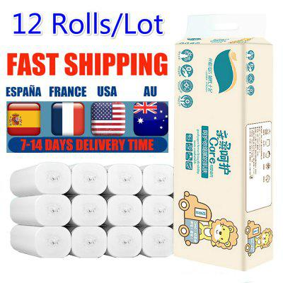 Toilet Paper 4 Layers Paper Bathroom Toilet Kitchen Paper Tissue Cleaning Paper Wood Pulp Paper