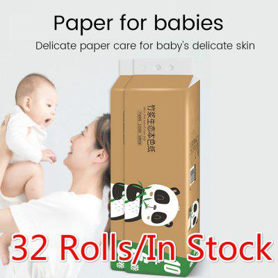 Soft Toilet Roll Paper Primary Wood Pulp Bamboo Pulp Toilet Paper Strong Water Absorption