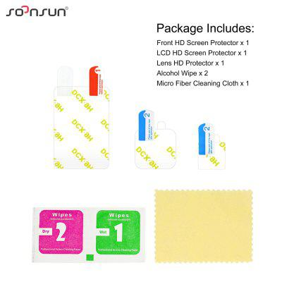 6pcs LCD Screen Protector Film and Lens Screen Protective Film for GoPro Hero 8 Black Camera