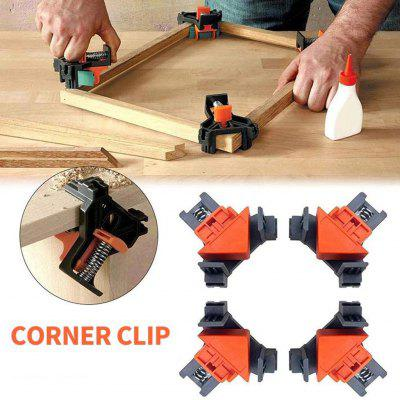 4pcs 90 Degree Right Angle Clamp Fixing Clips Picture Frame Corner Clamp Woodworking Hand Tool Angle Clamps Pipe Clamp Y4