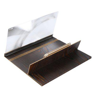 12 inch Desktop Folding Wood Bracket Mobile Phone Screen Magnifier 3D HD Video Amplifier Smartphone Holder Stand