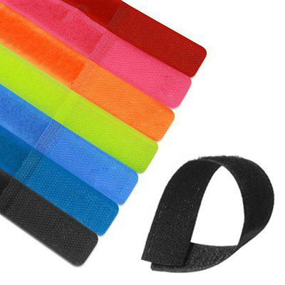 50pcs Nylon Velcro Cable Tie Colorful Power Management Wire Marker Straps Cord Cable Tie Self-adhesive Cable Belt Multifunction