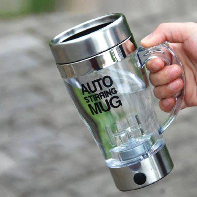 Transparent Automatic Self Stirring Mug Coffee Mixing Mug Plastic Thermal Cup Electrical Lazy Double Insulated Smart Cup
