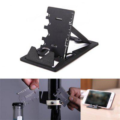 3 in1 Mobile Phone Holder Stand EDC Mini Card Knife Multifunctional Folding Phone Bracket Bottle Opener Tool Kits for Iphone  628