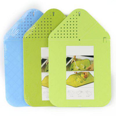Multi-function Foldable Rinse Chop Board Veggies Fruit Cutting Board Strainer Chopping Board Multifunctional Kitchen Tool