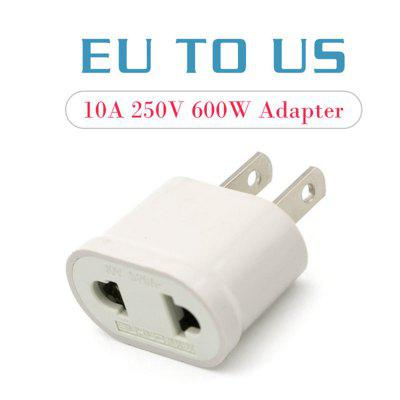 1PC US Adapter Plug EU to US Travel Wall Electrical Power Charge Outlet Sockets 2 Pin Plug Socket Euro Europe To USA
