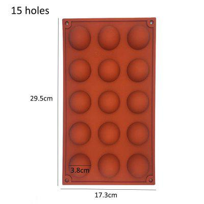 Hemisphere Shape Silicone 6 15 24 Holes Food Grade Baking Accessories Chocolate Candy Mold Bakeware Kitchen Gadgets