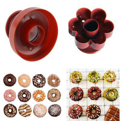 Food Grade Donut Mold Dessert Doughnut Donut Maker Cutter DIY Cake Mould Fondant Decor for Bakery Baking Tool Kitchen Gadget