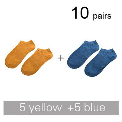 2019 New Brand Men Bamboo Fiber Socks Male Summer Leisure Invisible Short Socks Colorful Man Dress Ankle Boat Socks For Gift