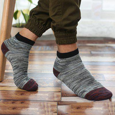 5 Pairs Men Crew Socks for Men Cotton Patchwork Ethnic Breathable Hombre Sock Business Male Socks Summer New Meias