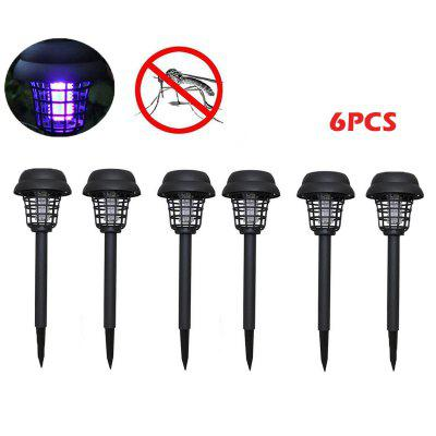 14PCS Solar Mosquito Killer Lamps Garden Lawn Light Solar Powered LED Light Garden Mosquito Pest Bug Zapper Insect Repellents