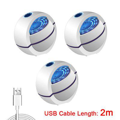 2020 USB Powered Mosquito Killer Lamp 1m 2m Electric No Noise 360° Insect Killer Bug Zapper Mosquito Trap Light For Bedroom Home