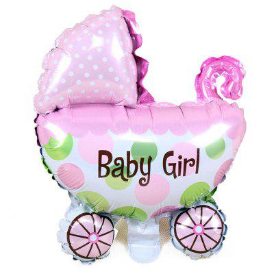 1PC New Baby Stroller Foil Balloons Baby Shower Carriage Boy & Girl Balloon Inflatable Toys Children Birthday Party Decorations