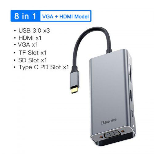 iPad MacBook Air Pro and More TF//SD Card Slot for iPhone ORICO USB C Hub 5-in-1 Data Hub with Type C 60W PD Charging Laptop 2 USB 3.0 Ports