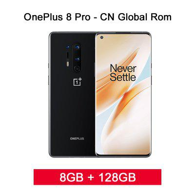 Global Rom Oneplus 8 Pro 5G Smartphone Snapdragon 865 8G 128G 6.87inch 120Hz Fluid Display 48MP Quad 513PPI 30W Wireless Charging