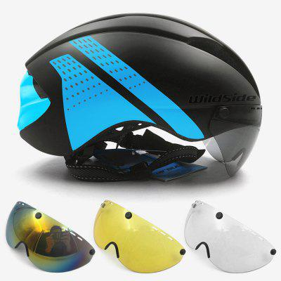 Aero Helmet TT Time Trial Cycling Helmet for Men Women Goggles Race Road Bike Helmet with Lens Casco Ciclismo Bicycle Equipment mounchain lightweight unisex cycling helmet with detachable magnetic goggles aerodynamic helmet for motorcycle bike riding