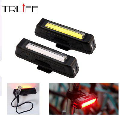 COB Waterproof Bicycle Head Light 6000LM USB Rechargeable LED Front Rear Bike Safety Light Comet Flashlight Red White Lamp
