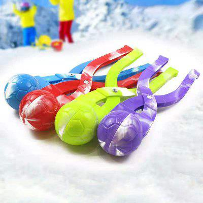 Children Plastic Snow Ball Maker Snowman Snowball Clip Scoop Kids Snow Making Sand Mold Tool Outdoor Playing Snow Building Model
