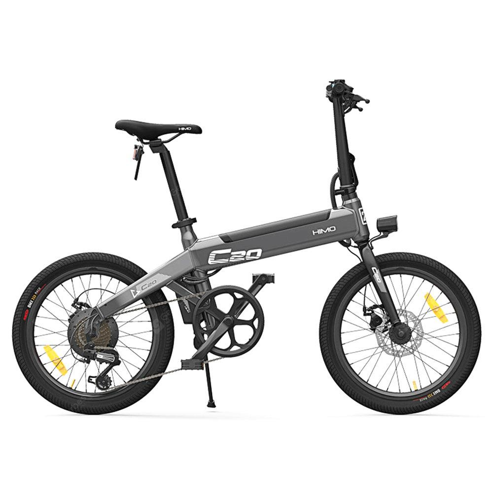 Original Xiaomi HIMO C20 10AH Electric Moped Bicycle 25KM Per Hour 250W Motor Foldable - Gray Poland