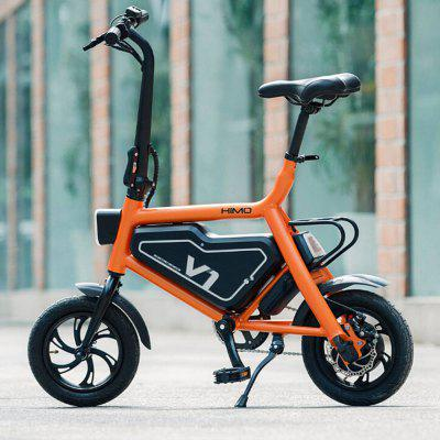 HIMO V1 Folding Bike Moped Electric Bike Bicycle 6Ah Battery with Double Disc Brakes Image