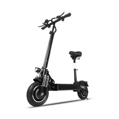 Janobike Electric Folding Scooter Double Drive with Seat 100KM Distance Max 70KM Per Hour 2000W
