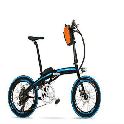 LANKELEISI QF600 240W 48V 12Ah Portable 26-inch Folding Electric Bicycle Image
