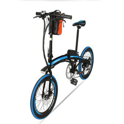 LANKELEISI QF600 Electric Bicycle 240W Motor 48V 12Ah 20in Wheel 70KM Mileage Folding E-Bike Image