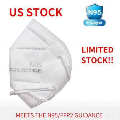 One Box 10pcs N95 5-Layer Face Mask Double BFE 99 Melt-Blown Non-Medical