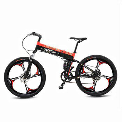 ZHENGBU Electric Bicycle Folding Bike 10A 48V 90KM Mileage 400W 26in Wheel Double Disc Brake Image