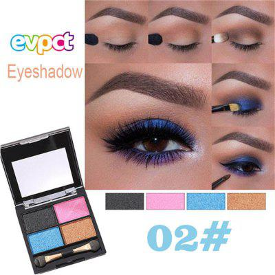 Evpct natural glitter matte metal eye shadow palette with eye shadow brush eye makeup cosmetics